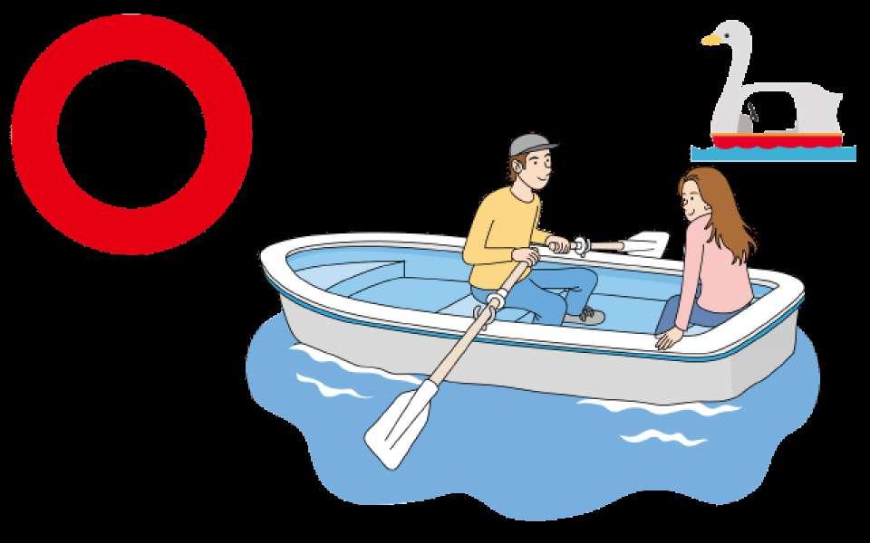 湖でボートデートするメリット画像