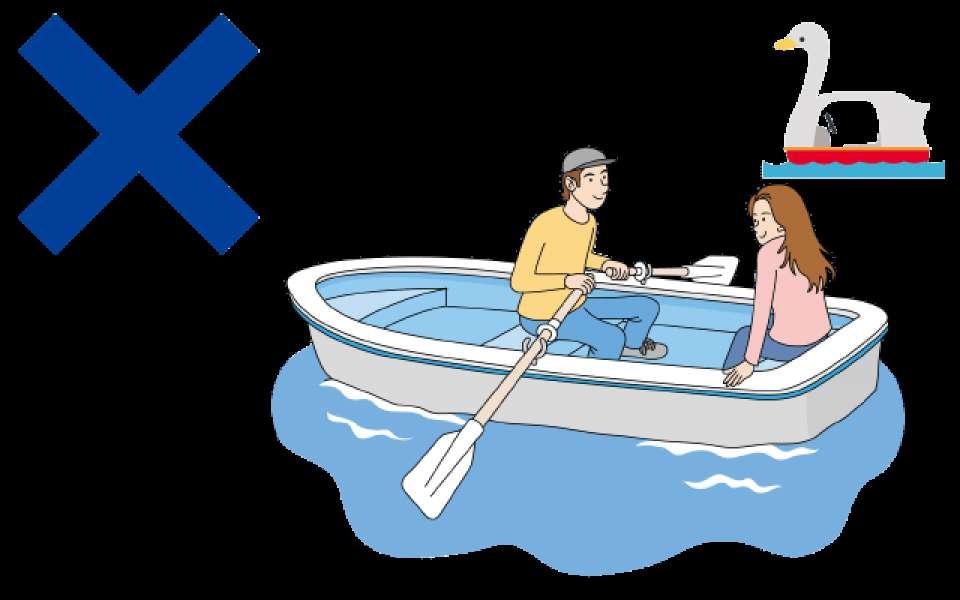 湖でボートデートするデメリット画像