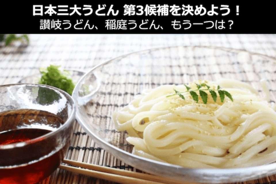 日本三大うどんは「水沢うどん」でいいの?讃岐、稲庭に次ぐ第三候補を人気投票中!