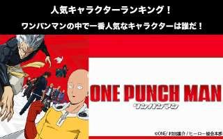 【ワンパンマン】キャラクター人気投票ランキング!一番人気なキャラは誰だ!