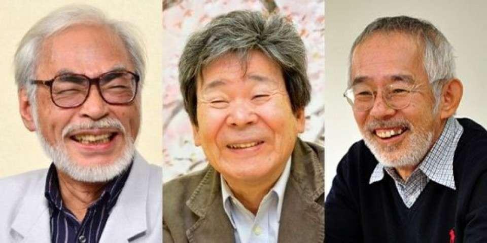 鈴木敏夫、宮崎駿、高畑勲
