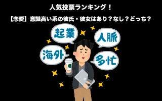 【恋愛】意識高い系の彼氏・彼女はあり?なし?どっち?人気投票!