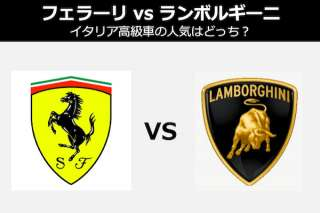 【フェラーリ vs ランボルギーニ】イタリア高級車の人気はどっち?人気投票!