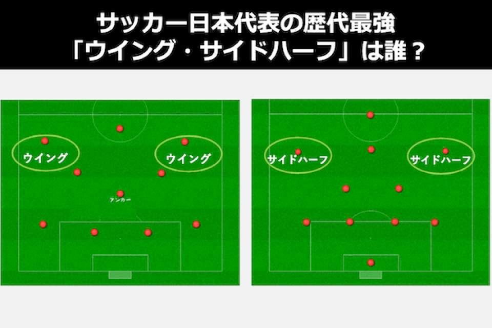 サッカー日本代表の歴代最強「ウイング・サイドハーフ」は誰?WG・SH人気投票ランキング!