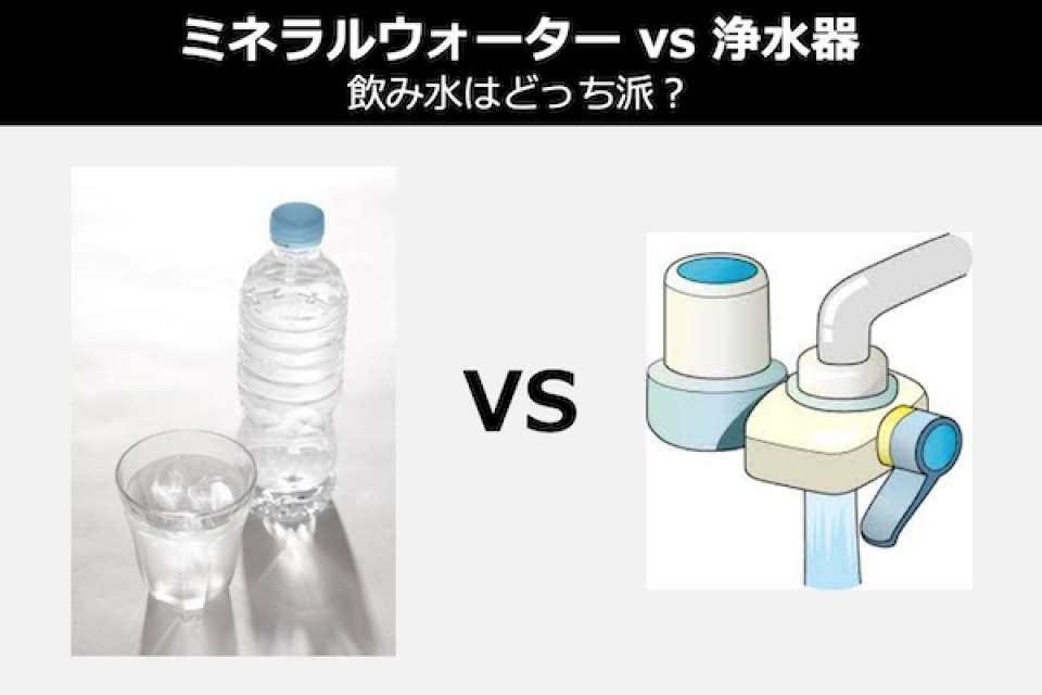 【ミネラルウォーター vs 浄水器】飲み水はどっち派?人気投票の結果は?