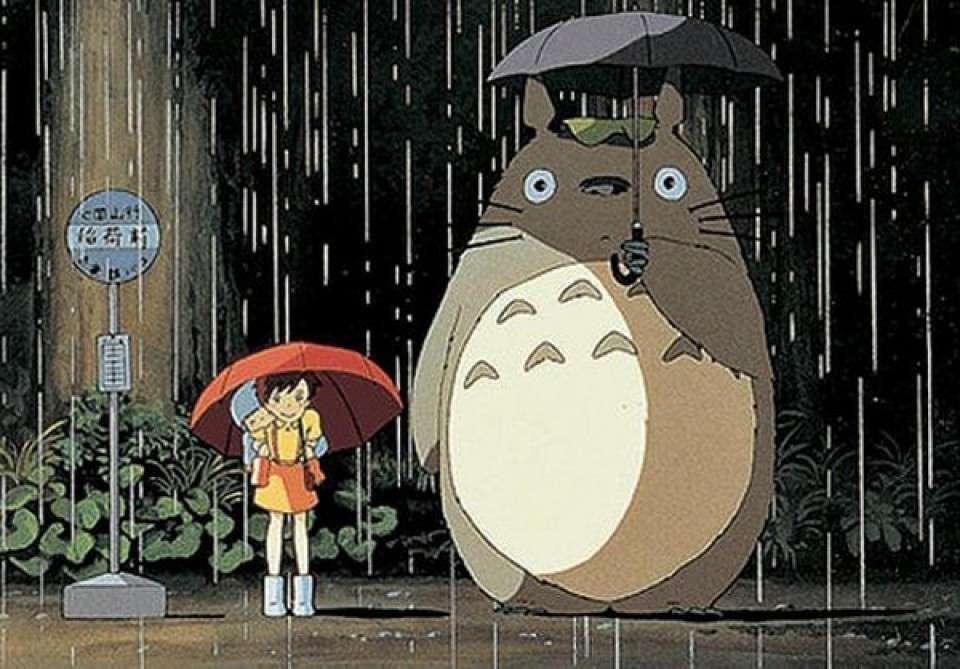 トトロにとっては傘は楽器!
