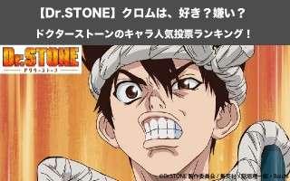 【Dr.STONE】クロムは、好き?嫌い? ドクターストーンのキャラ人気投票ランキング!