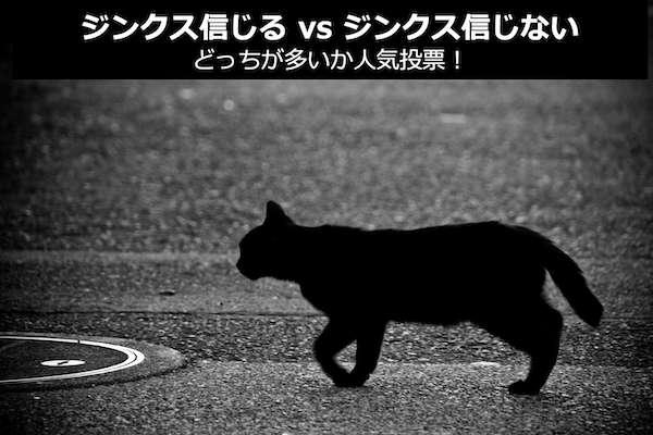 【ジンクス信じる vs ジンクス信じない】どっちが多いか人気投票!