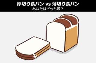【厚切り食パン vs 薄切り食パン】あなたはどっち派?人気投票!