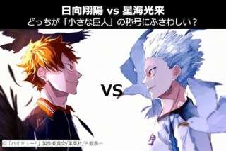 【日向翔陽 vs 星海光来】どっちが「小さな巨人」の称号にふさわしい?ハイキュー!!人気投票