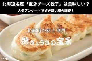 北海道名産「宝永チーズ餃子」は美味しい?まずい?どっち?人気アンケートで好き嫌いの割合調査!