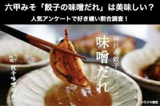 六甲みそ「餃子の味噌だれ」は美味しい?まずい?どっち?人気アンケートで好き嫌いの割合調査!