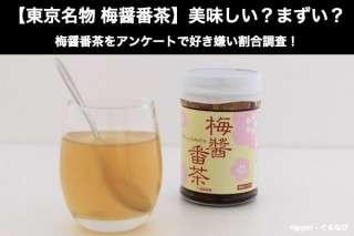 【東京名物 梅醤番茶】美味しい?まずい?どっち?梅醤番茶をアンケートで好き嫌い割合調査!