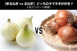 【新玉ねぎ vs 玉ねぎ】どっちのタマネギが好き?人気アンケート調査!