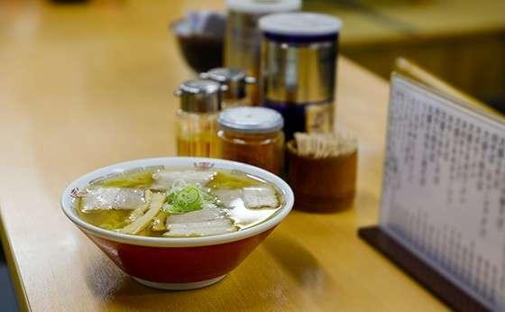 現地の喜多方市で食べ歩き!