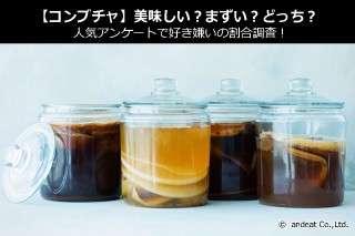 【コンブチャ】美味しい?まずい?どっち?人気アンケートで好き嫌いの割合調査!