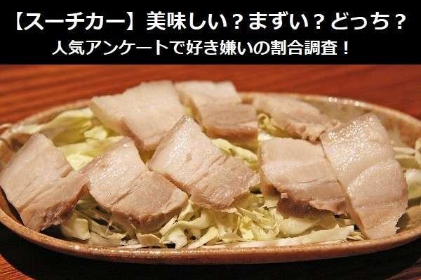 【スーチカー】美味しい?まずい?どっち?人気アンケートで好き嫌いの割合調査!