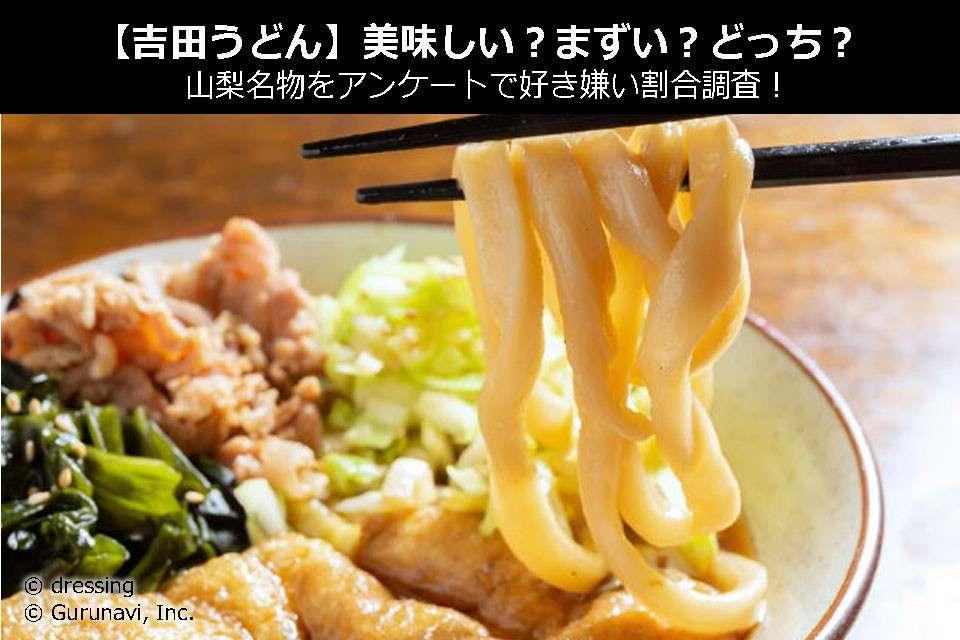 【吉田うどん】美味しい?まずい?どっち?山梨名物をアンケートで好き嫌い割合調査!