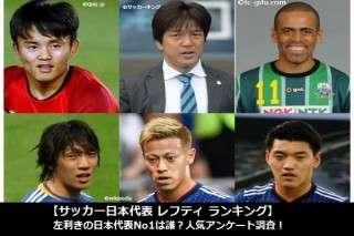 【サッカー日本代表 レフティ ランキング】左利きの日本代表No1は誰?人気アンケート調査!