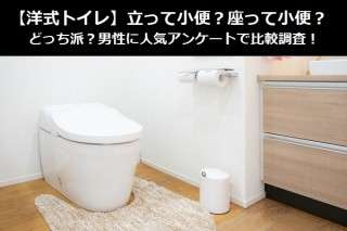 【洋式トイレ】立って小便?座って小便?どっち派?男性に人気アンケートで比較調査!