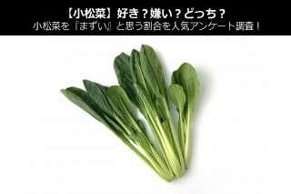 【小松菜】好き?嫌い?どっち?小松菜を『まずい』と思う割合を人気アンケート調査!