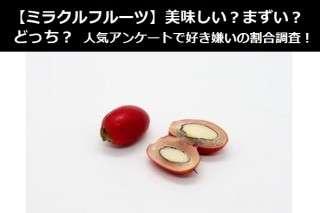【ミラクルフルーツ】美味しい?まずい?どっち?人気アンケートで好き嫌いの割合調査!