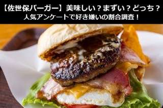 【佐世保バーガー】美味しい?まずい?どっち?人気アンケートで好き嫌いの割合調査!