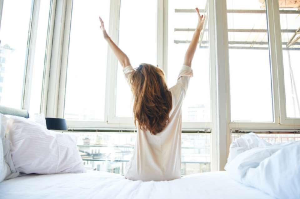 朝起きた画像