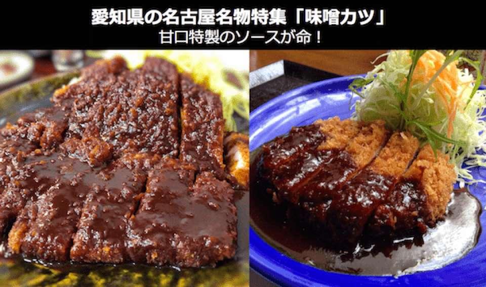 愛知県の名古屋名物「味噌カツ」
