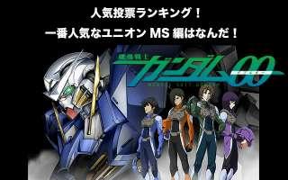【ガンダム00-ユニオンMS編】人気投票ランキング!一番人気なモビルスーツはなんだ!