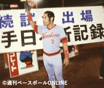 連続試合出場記録は日本歴代1位「衣笠祥雄」