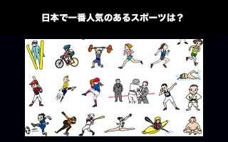 【頂上決戦】日本で一番人気のあるスポーツは?