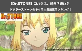 【Dr.STONE】コハクは、好き?嫌い?|ドクターストーンのキャラ人気投票ランキング!
