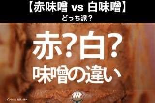【赤味噌 vs 白味噌】どっち派?