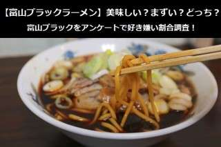 【富山ブラックラーメン】美味しい?まずい?どっち?