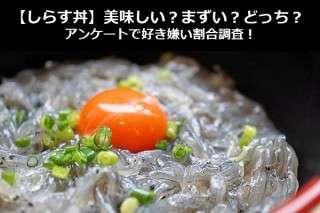 【しらす丼】美味しい?まずい?どっち?
