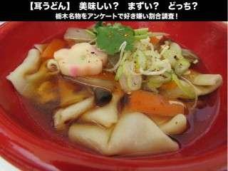 【耳うどん】美味しい?まずい?どっち?栃木名物をアンケートで好き嫌い割合調査!