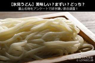 【氷見うどん】美味しい?まずい?どっち?富山名物をアンケートで好き嫌い割合調査!