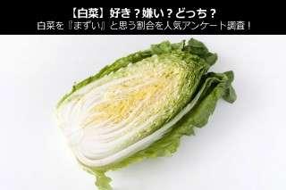 【白菜】好き?嫌い?どっち?白菜を『まずい』と思う割合を人気アンケート調査!